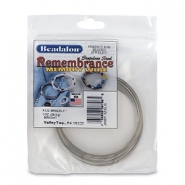 Beadalon remembrance memory wire extra large Armbänder Bright Stainless Steel