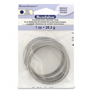 Beadalon remembrance memory wire Halskette Bright Stainless Steel