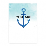 "Schmuck Wunschkarte ""You are my anchor"" White-blue"