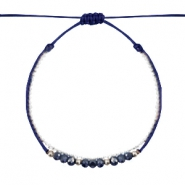 Armbänder Facett Dark blue-white silver