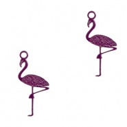 Bohemian Anhänger Flamingo Dark purple