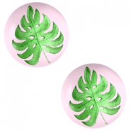 Cabochon Basic 20mm Tropical leaf-palace rose