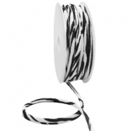 Gestepptes Elastisches Band Ibiza Black-white zebra
