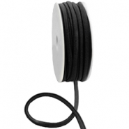 Gestepptes Elastisches Band Ibiza Black