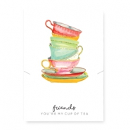 "Schmuck Wunschkarte ""cup of tea"" White-multicolour"