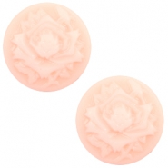 Cabochon Basic Camee 12mm Rose Light pink-off white