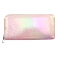 Trendy Portemonnaie holographic Metallic light pink
