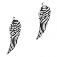 Basic quality Metall Anhänger Angel Wing Antik silber