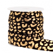 Elastisches Band Leopard Black