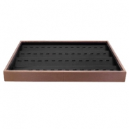 Schmuckdisplay 4-layer mit Haken Brown-black