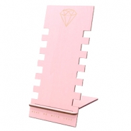 Schmuckdisplay Holz Diamond Pink