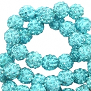 Strass Perlen 10mm Turquoise blue