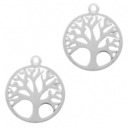 Stainless Steel - Rostfreiem Stahl Anhänger Tree of Life 15mm Silber