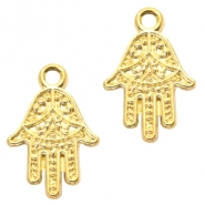 Basic Quality Metall Anhänger Hamsa Hand Gold
