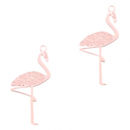 Bohemian Anhänger Flamingo Light pink (Nickelfrei)