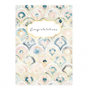 "Schmuck Karten ""Congratulations"" Rose blue"