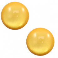 12 mm classic Cabochon Polaris Elements soft tone shiny Mineral yellow