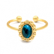 Trendy Entourage Ringe Gold-blau (nickelfrei)