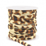 Gestepptes Elastisches Band Leopard Gold brown