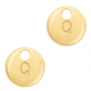 Basic quality Metall Anhänger Initiale Q Gold (Nickelfrei)