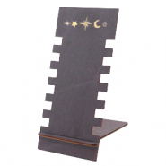 "Schmuckdisplay Holz ""Moon & Star"" Black"