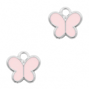 Basic quality Metall Anhänger Schmetterling Silber-Pink