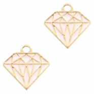 Basic quality Metall Anhänger Diamant Gold-rosa