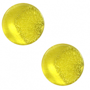 12 mm flach Cabochon Polaris Elements Stardust Empire yellow
