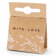 Schmuck Karten 'with love' Floral Brown