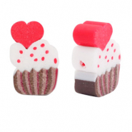 Polymer Perlen Cupcake Brown-red