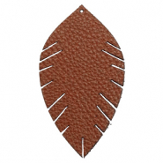 Imi Leder Anhänger Blatt large Chocolate brown