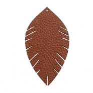 Imi Leder Anhänger Blatt medium Chocolate brown