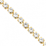 Strass Ketten Crystal-gold