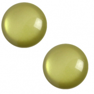 7 mm classic Cabochon Polaris Elements soft tone Origano green