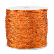 Macramé Band Metallic 0.5mm Rust orange