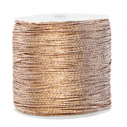 Macramé Band Metallic 0.5mm Ivory cream taupe
