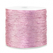 Macramé Band Metallic 0.5mm Orchid bloom rose