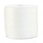 Macramé Band Metallic 0.5mm  White
