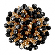 Cluster Perlen Ornament Jet black