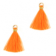 Perlen Quaste 1.5cm Gold-flame orange