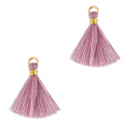 Perlen Quaste 1.5cm Gold-light mauve purple