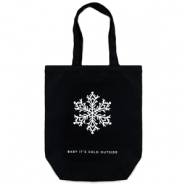 "Fashion Tasche Canvas ""baby it's cold outside"" Black"
