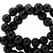 8 mm Glasperlen opaque Black