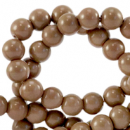 8 mm Glasperlen opaque Rocky road brown