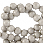 8 mm Glasperlen opaque Paloma grey metallic