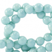 8 mm Glasperlen opaque Eggshell blue