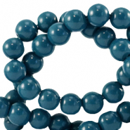 8 mm Glasperlen opaque Gibraltar sea blue