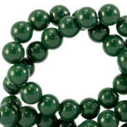 8 mm Glasperlen opaque Dark eden green