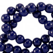 4 mm Glasperlen opaque Dark sodalite blue