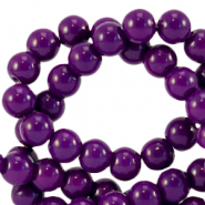 8 mm Glasperlen opaque Acai purple